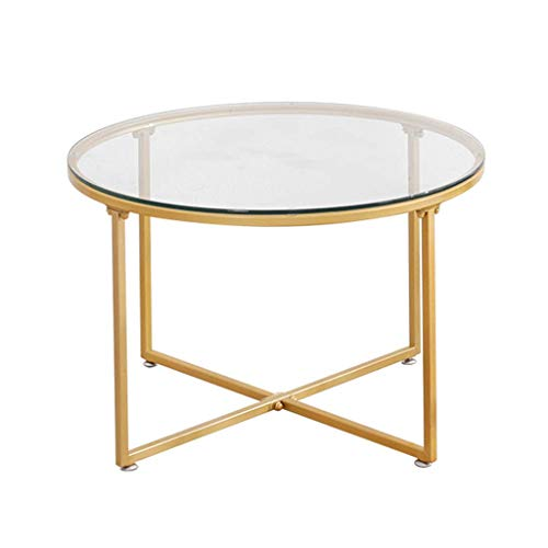 Amazon Com Kuku Coffee Table Round Transparent Tempered
