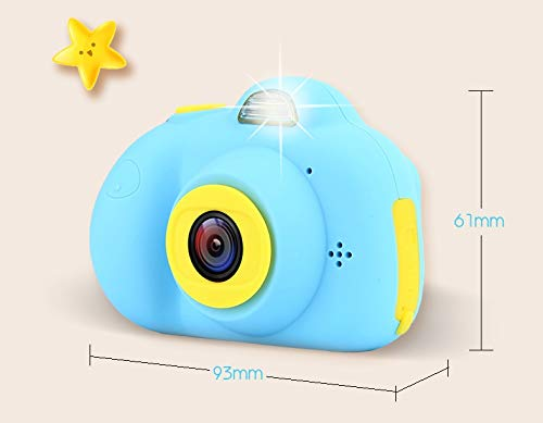 YOYOCOCO Camera for Kids,Film Camera Selfie Camera with Soft Silicone Shell for Outdoor Play,Kids Camera Toy Camera for 3-10 Year Old Girls and Boys(16GB TF Card Included)(Blue) by YOYOCOCO (Image #5)