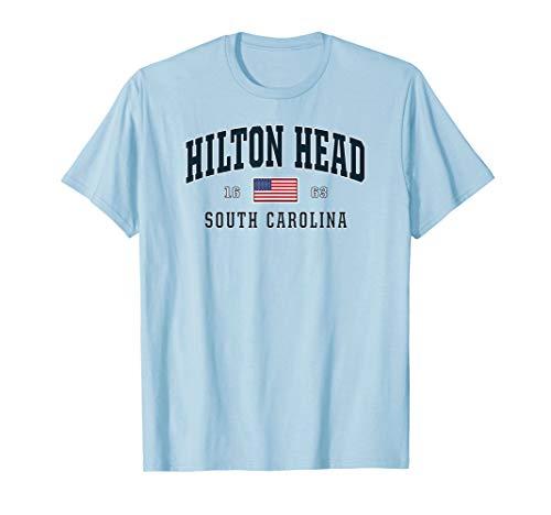 Hilton Head SC South Carolina T-Shirt USA Flag Patriotic Tee