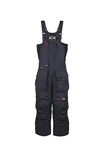 (Striker Ice Men's Climate Insulated Waterproof Bibs with Sureflote, Black,)