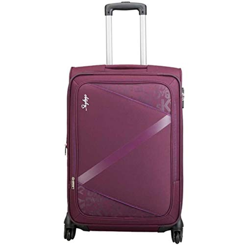 Skybags Spotlight 4W EXP Polyester Strolly  H  55 PPL Expandable Cabin Luggage   21 inch, Purple