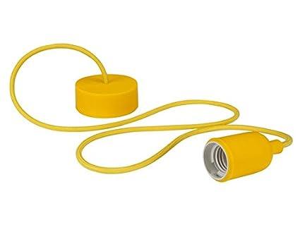 Vellight LAMPH01Y Design Deckenleuchte mit Textilkabel, Gelb 232276