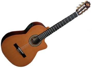 Admira Virtuoso tapa de cedro macizo) Electro Cutaway Guitarra ...