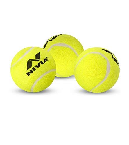 Nivia CT 3812 Cricket Tennis Ball  Yellow, 6.6 x 6.6 x 6.6 cm   Set of 6 Pieces