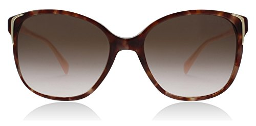 Prada PR01OS UE00A6 Spotted Brown / Pink PR01OS Round Sunglasses Lens Category by Prada