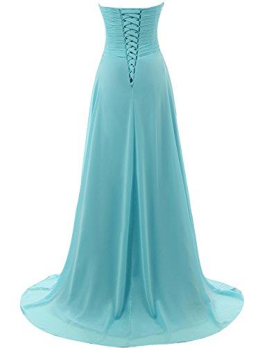 Evening Long Dress line Formal Chiffon Prom Bridesmaid Black Gown Dresses A tZpdwYq