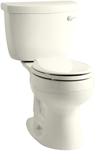 KOHLER K-3888-RA-96 Cimarron Comfort Height Two-Piece Round-Front 1.6 Gpf Toilet with Aquapiston Flush Technology and Right-Hand Trip Lever