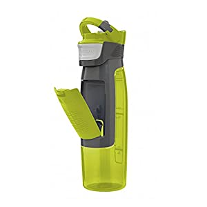 Contigo AVEX AUTOSEAL Kangaroo Water Bottle with Storage Compartment, 24-Ounce, Citrus