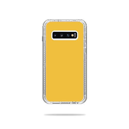 Price comparison product image MightySkins Skin Compatible with Lifeproof Next Case Samsung Galaxy S10 - Solid Marigold / Protective,  Durable,  and Unique Vinyl Decal wrap Cover / Easy to Apply,  Remove / Made in The USA