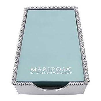 Mariposa 2242-G Beaded Guest Towel Box, One Size, Aluminum