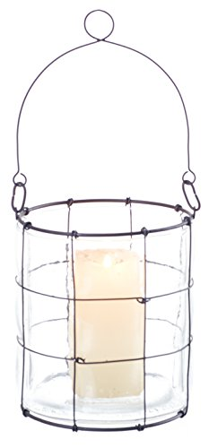 Transpac estaño/vidrio–Soporte para cirio, grande