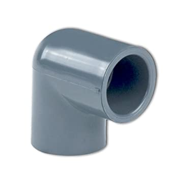 """GF PIPING SYSTEMS 806-005 1//2/"""" Socket PVC 90 Degree Elbow Sched 80"""