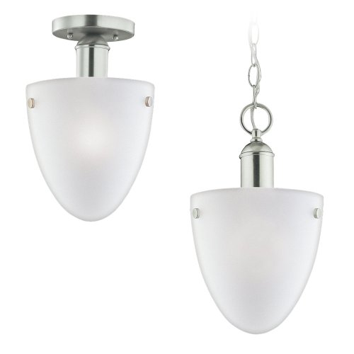962 Metropolis Light One (Sea Gull Lighting 51035-962 Metropolis Collection Light-Light Pendant, Brushed Nickel Finish with Satin Etched Glass)