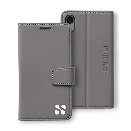 Anti Radiation RFID iPhone Case: iPhone XR ELF & RF Blocking Identity Theft Protection Wallet (Grey)
