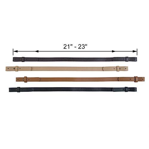 """TOPTIE Adjustable Shoulder Bag Strap PU Leather Replacement Purse Straps, 21""""-23"""" Long 3/4"""" Wide-Black 2pcs"""