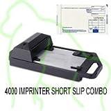 4000 Manual Credit Card Imprinter and 100 Short Slip Combo