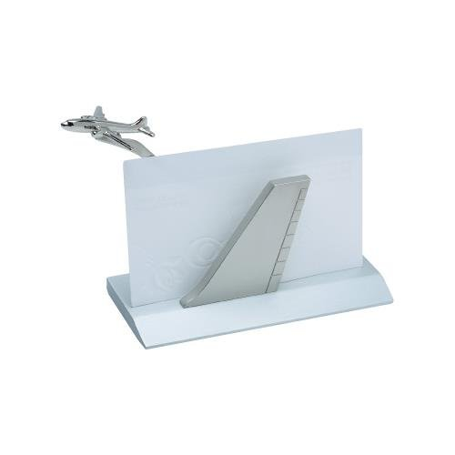 Airplane Business Card Holder - - Aviator Card Silver