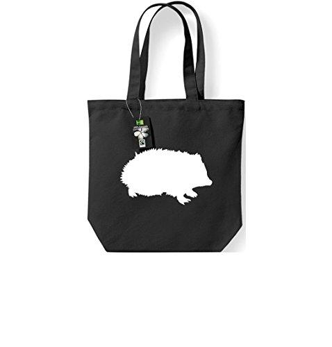 Krokodil - Bolso de tela de algodón para mujer negro - negro