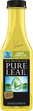 Honey Sweet Green Tea (Lipton Pure Leaf Not Too Sweet Honey Green Tea, 18.5 Fl Oz (Pack of 12))
