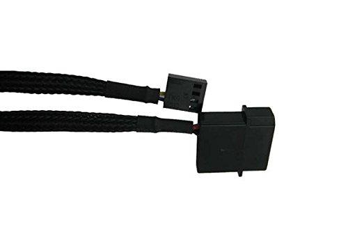 M/âle//Femelle, 4 x 4-pin PWM, 4-pin PWM + Molex 4-pin GELID SOLUTIONS CA-PWM-03 Interne 0.42m 4 x 4-pin PWM Noir c/âble /électrique cables /électriques , Droit, Droit, Noir