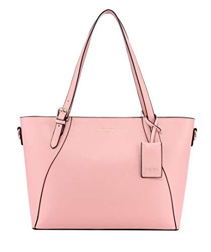 Tote Bag for Women Shoulder Bags Handbags Satchel Hobo 4pcs Purse Set (Pink)
