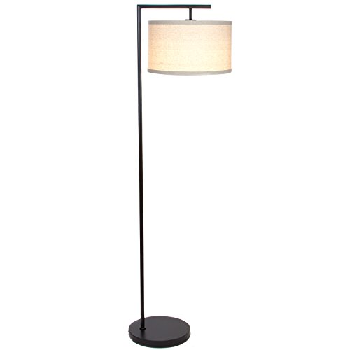 Black Floor Lamp - Brightech Montage Modern LED Floor Lamp with Hanging Lamp Shade - Tall Industrial Downlight Lamp for Living Room, Family Room, Office or Bedroom, Energy Saving and Long Lasting - Black