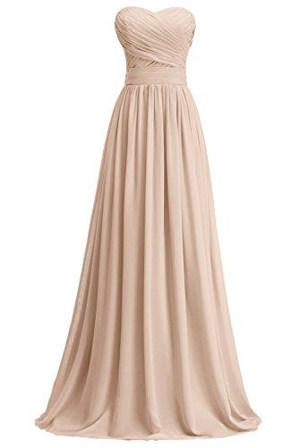Abendkleid Maxi Plissiert Linie Partykleid A Tochter Mutter Brautjungkleid Champagner Blumenmkleid KekeHouse® nYqgHWZFZ