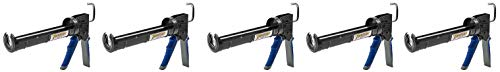 - Newborn Pro Super Ratchet Rod Caulk Gun with Gator Trigger Comfort Grip, 1/10 Gallon Cartridge, 6:1 Thrust Ratio (5-(Pack))