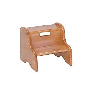 Kidu0027s Solid Wood Step Stool Finish Honey Oak Customize Yes Letter Color Red  sc 1 st  Amazon.com & Amazon.com: Kidu0027s Solid Wood Step Stool Finish: Honey Oak ... islam-shia.org