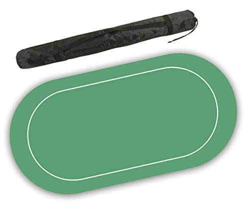 Non Slip 70 x 36 inch Neoprene Rubber Foam Poker Table Mat and Card Game Layout (Green) (Card Table Felt Green)