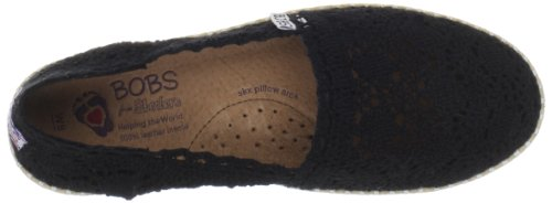 BOBS Black BOBS from from Doily BOBS Flat Womens Womens Doily Skechers Flat Black Skechers nTxRS5EB