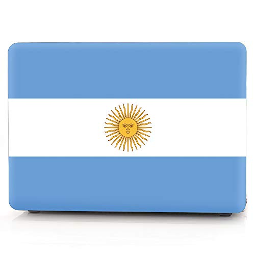 MacBook Case,Laptop Case National Flags Plastic Case Hard Shell Case for MacBook Air 13-inch Model A1932(2018 Release) with Keyboard Skin Cover and Screen Protector (Argentina)