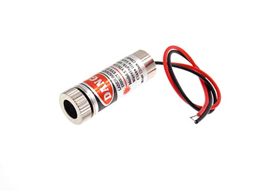 650nm 5mW Red Dot Laser Module Head Glass Lens Focusable Industrial Class Grade 3-5V