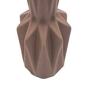 Home Decor Studio Grigio Vaso–30cm splendido Geometrico a Forma di Vaso in Ceramica Ideale per Fiori