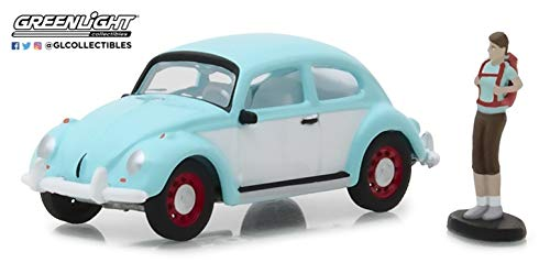 Greenlight 97040-F 1:64 Scale Hobby Shop Classic Volkswagen Beetle with Backpacker