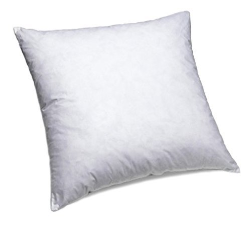 "IZO All Supply 95% Feather 5% Down, Square Decorative Pillow Insert, Sham Stuffer, 18"" W x 18"" L"