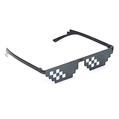 UJuly Black Funny Mosaic Sunglasses Toy for Kids Party Supplies Cool Mischievous Decoration for Men Women Adults by UJuly (Image #2)