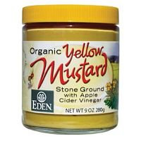 Eden Foods Mustard, Og, Yellow, Glass, 9-Ounce (Pack of 6) (Eden Glasses)