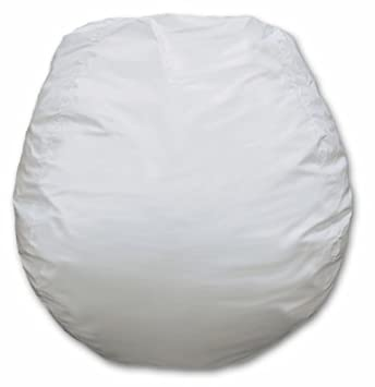 Jumbo Vinyl Bean Bag Chair In White