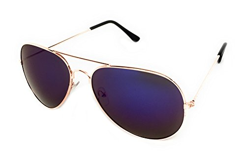 My Shades - Classic Aviator Sunglasses Silver Mirror Color Mirror Retro Metal Teardrop Fits Teens Adults Men Women (Gold, - To Get Good Face Of How Shape