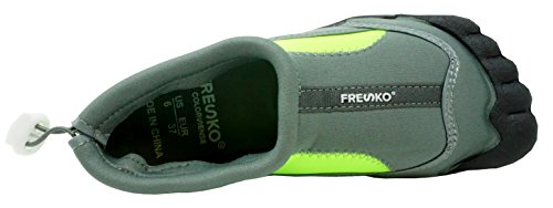 Women's Lime Shoes L1329 Water Toes with Fresko Aqua Style Sports axvZwwACq