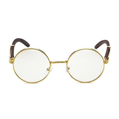 Jgny - 14k Gold Plated Allen Wood Eyeglasses UV - Gold Eyeglass Frames 14k