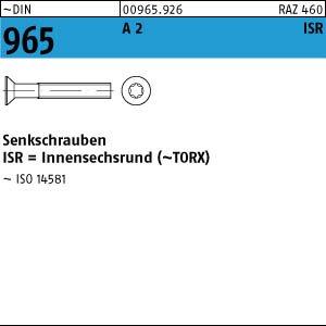 100 Edelstahl V2A Torx Senkschrauben DIN 965 TX A2 M8x12