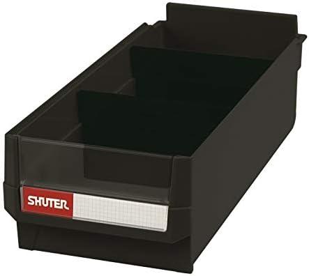 SHUTER スチール製収納棚 HDシリーズ引き出し用 引出し 黒 3個 HD-1641