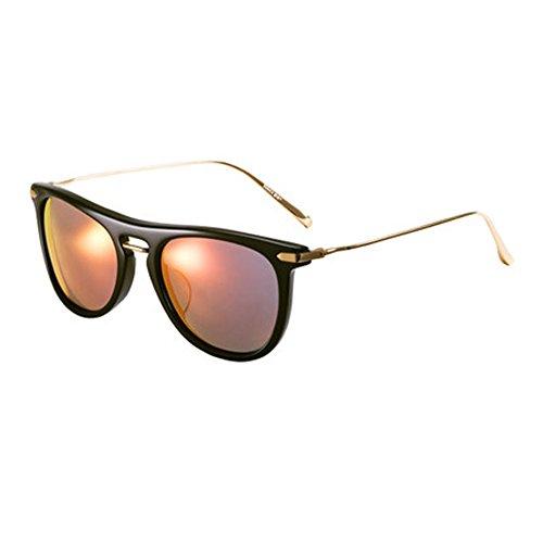 de rétro lunettes soleil lentille soleil Plastique pilote Plate hommes miroir ronde polarisées en soleil Memory boîte Lady visage de lunettes lunettes A nylon de lunettes UV protection tqB8xBEg