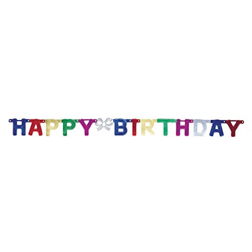 4ft Metallic Happy Birthday Banner -