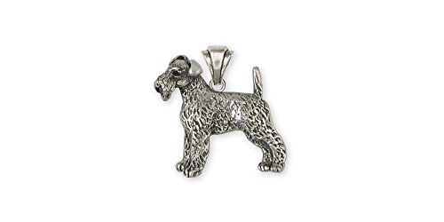 Airedale Terrier Jewelry Sterling Silver Airedale Terrier Pendant Handmade Dog Jewelry AR9-P