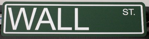 Motown Automotive Design Wall Street METAL STREET SIGN 6X24 ()