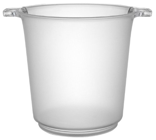 Fineline Settings Platter Pleasers Clear 1 Gallon Ice Bucket 6 (Plastic Ice Buckets)