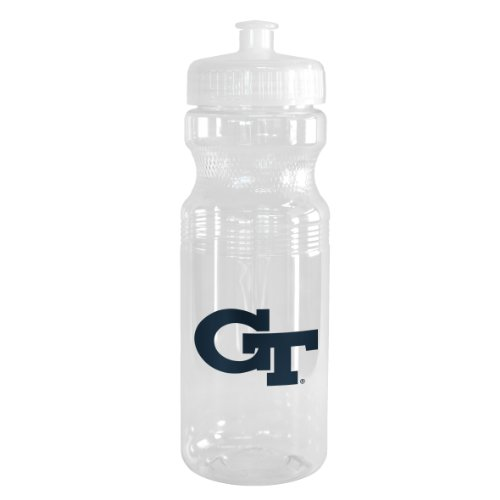 NCAA Georgia Tech Yellow Jackets Squeeze Water Bottle, 24-ounce